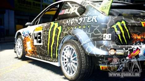 Ford Focus RS Monster World Rally Team WRC pour GTA 4 est une gauche