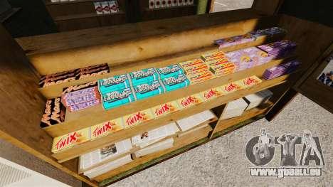 Neue Produkte in der Kaffee-kiosk für GTA 4 dritte Screenshot
