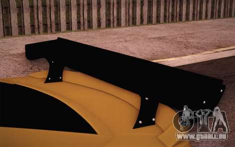 Chevrolet Camaro ZL1 pour GTA San Andreas vue de dessus