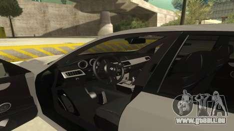 BMW M5 E60 für GTA San Andreas Innenansicht
