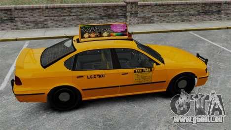 Véritable publicité sur les taxis et les bus pour GTA 4 sixième écran