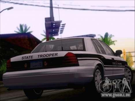 Ford Crown Victoria San Andreas State Trooper pour GTA San Andreas vue de dessous