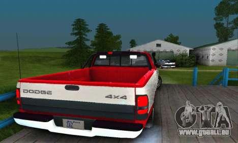 Dodge Ram 2500 pour GTA San Andreas laissé vue