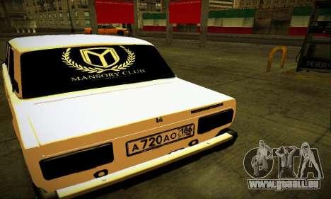 BUNKER VAZ 2107 pour GTA San Andreas sur la vue arrière gauche