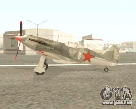 MIG-3 für GTA San Andreas zurück linke Ansicht