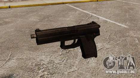 Pistolet semi-automatique H & K MK23 Socom pour GTA 4 troisième écran