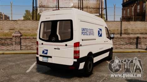 Mercedes-Benz Sprinter 2500 Delivery Van 2011 pour GTA 4 Vue arrière de la gauche