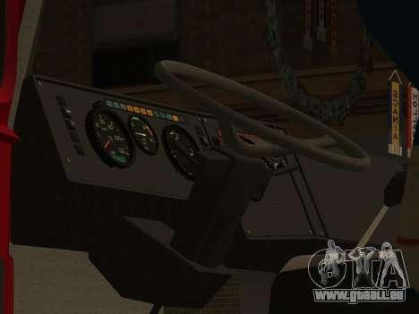 MAZ 5432 für GTA San Andreas Innenansicht
