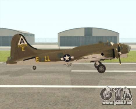 B-17G für GTA San Andreas zurück linke Ansicht