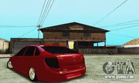 Lada Granta Schrägheck für GTA San Andreas Rückansicht