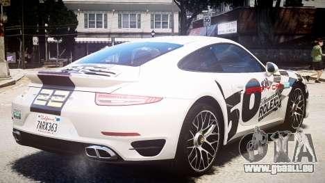 Porsche 911 Turbo 2014 pour GTA 4 Vue arrière de la gauche