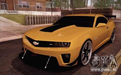 Chevrolet Camaro ZL1 für GTA San Andreas