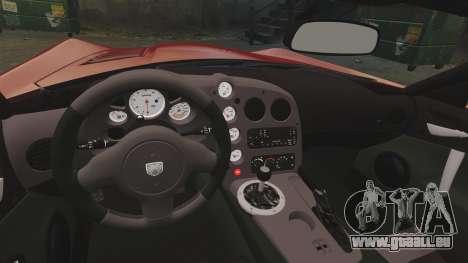Dodge Viper SRT-10 2003 pour GTA 4 est une vue de l'intérieur