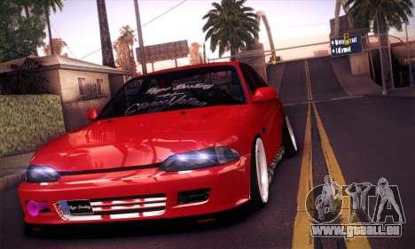 Proton Wira Hype pour GTA San Andreas sur la vue arrière gauche