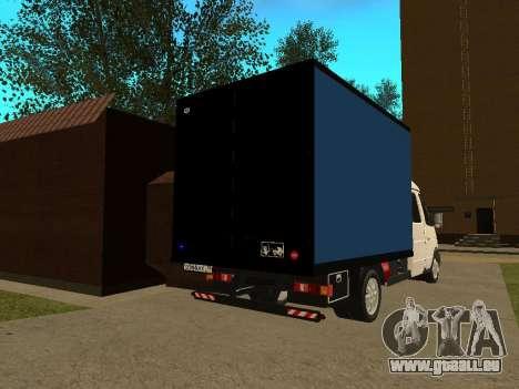 33023 Gazelle Business für GTA San Andreas rechten Ansicht