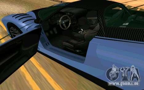 Der Gepard von GTA 5 für GTA San Andreas zurück linke Ansicht