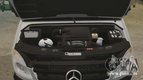 Mercedes-Benz Sprinter 2500 Delivery Van 2011 pour GTA 4 est une vue de l'intérieur