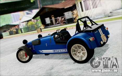 Caterham R500 Superlight 2008 pour GTA San Andreas laissé vue