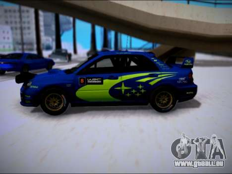 Subaru Impreza WRX STI WRC pour GTA San Andreas laissé vue
