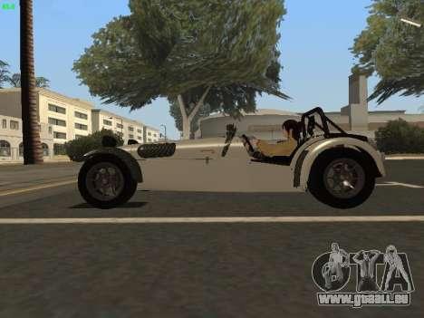 Caterham 7 Superlight R500 pour GTA San Andreas laissé vue