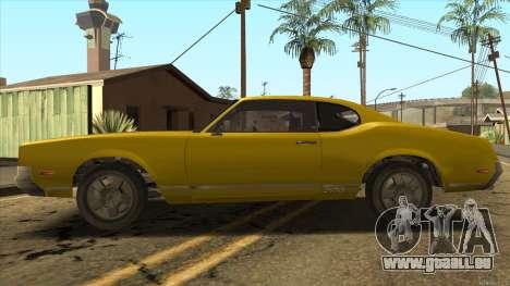 Sabre HD from GTA 3 für GTA San Andreas linke Ansicht
