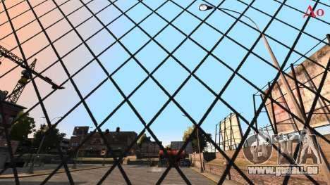 Verlegenheit Konturenschärfe Zaun aus Mesh-Netzg für GTA 4 Sekunden Bildschirm