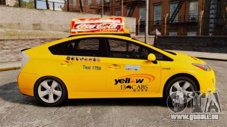 Toyota Prius 2011 Adelaide Yellow Taxi für GTA 4 linke Ansicht