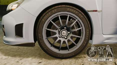 Subaru Impreza Cosworth STI CS400 2010 pour GTA 4 Vue arrière