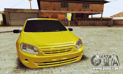 Lada Granta Hatchback pour GTA San Andreas laissé vue