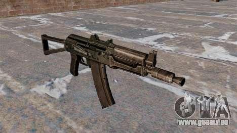 Automatische AKS74U schwarz für GTA 4