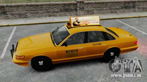 Véritable publicité sur les taxis et les bus pour GTA 4 douzième d'écran