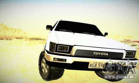 Toyota 4Runner 1995 pour GTA San Andreas vue intérieure