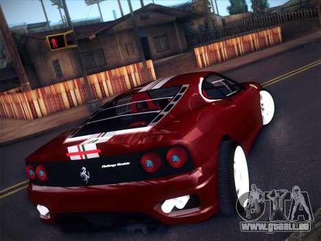 Ferrari 360 Challenge Stradale pour GTA San Andreas sur la vue arrière gauche