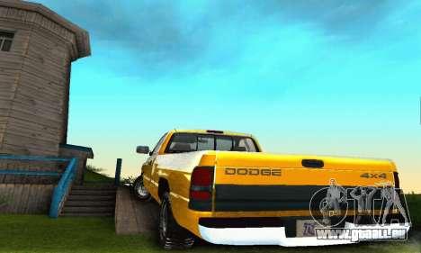 Dodge Ram 2500 pour GTA San Andreas vue de côté