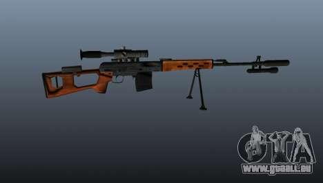 Dragunov Scharfschütze-Gewehr-A- & -K für GTA 4 dritte Screenshot