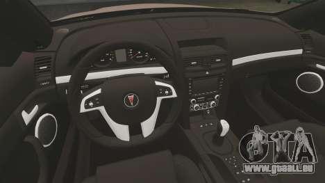 Pontiac G8 GXP [VE] 2009 für GTA 4 Innenansicht