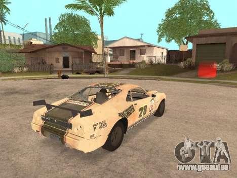 AMC Javelin AMX pour GTA San Andreas sur la vue arrière gauche