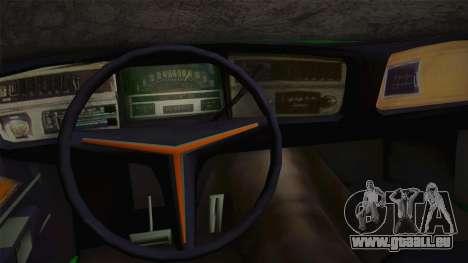 Buick Riviera 1972 Carbine Version pour GTA San Andreas vue intérieure