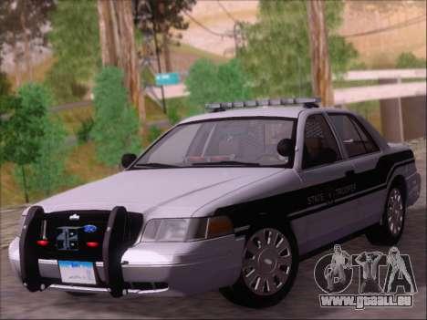 Ford Crown Victoria San Andreas State Trooper pour GTA San Andreas laissé vue