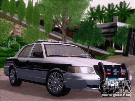 Ford Crown Victoria San Andreas State Trooper pour GTA San Andreas vue de côté