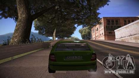 Skoda Fabia pour GTA San Andreas sur la vue arrière gauche