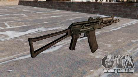 AKS74U automatique noir pour GTA 4 secondes d'écran