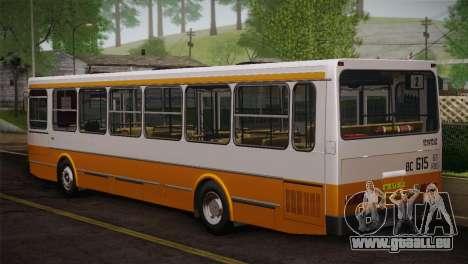 LIAZ peau 5256.00 3-Pack pour GTA San Andreas vue de dessous