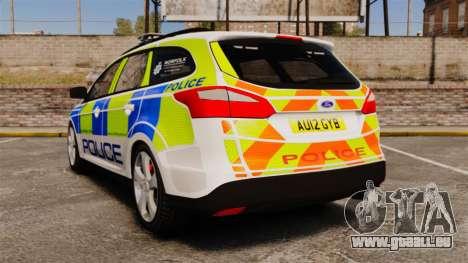 Ford Focus Estate Norfolk Constabulary [ELS] für GTA 4 hinten links Ansicht
