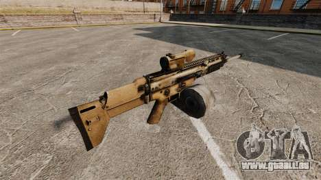 Fusil d'assaut SCAR LMG pour GTA 4 secondes d'écran