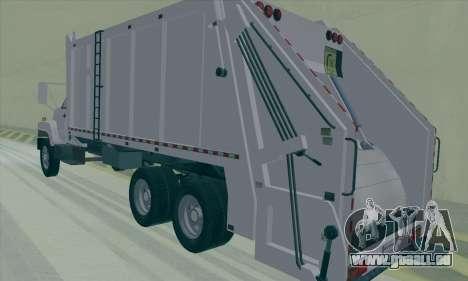 GMC C550 Topkick Trashmaster für GTA San Andreas rechten Ansicht