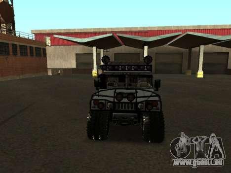 Hummer H1 Offroad pour GTA San Andreas vue intérieure