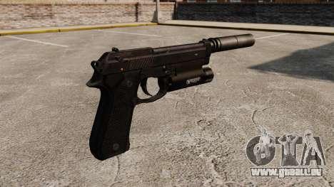 Pistolet semi-automatique Beretta 92 avec silenc pour GTA 4 secondes d'écran