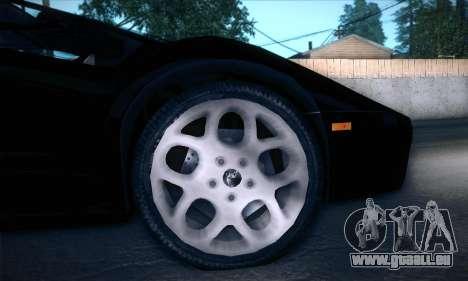 Lamborghini Diablo VT6.0 für GTA San Andreas Innenansicht