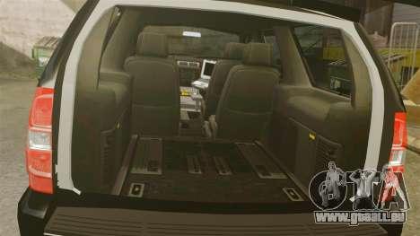 Chevrolet Tahoe Police [ELS] pour GTA 4 est une vue de l'intérieur